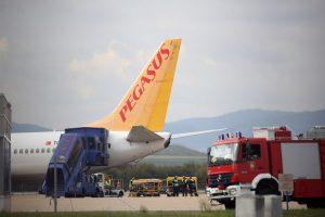 MZLZ: Izvanredno slijetanje zrakoplova kompanije Pegasus Airlines