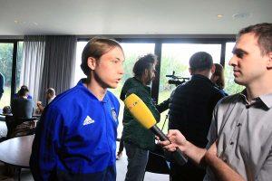 FOTO: Igrači Dinama odgovarali na pitanja novinara na medijskom danu
