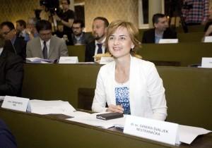 GRADSKA SKUPŠTINA: Sandra Švaljek prvi puta za govornicom od kada je nestranačka zastupnica