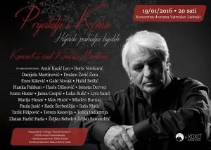 Brojne domaće i regionalne glazbene zvijezde stižu u Zagreb  na koncert u čast Kemala Montena