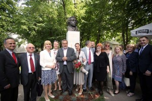 Otkriven spomenik Puškinu u zagrebačkom parku Bundeku