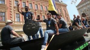 Pobjednici Maratona lađa na Trgu bana Jelačića