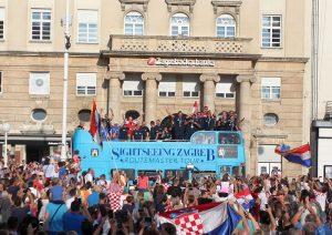 Zagreb dočekao zlatne vaterpoliste