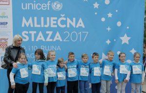"""Više od 400 djece sudjelovalo u UNICEF-ovoj dječjoj utrci """"Mliječna staza"""" za osnivanje prve banke humanog mlijeka"""