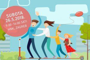 Štafetna utrka romobila kod zagrebačkog HNK