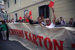 GRADSKA SKUPŠTINA: Prosvjed upozorenja protiv Bandićeva GUP-a